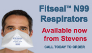Fitseal N99 Respirator - Available now from Stevens. Call today to order